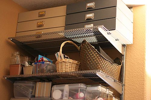 27811 scrap shelves and containers