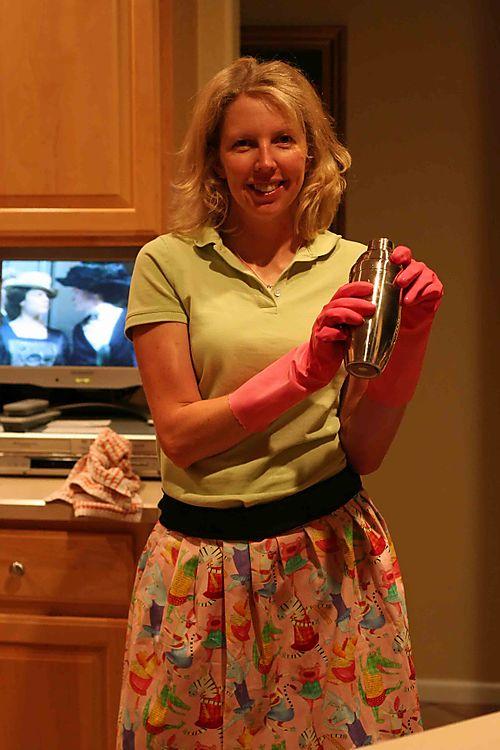 28393 pink apron